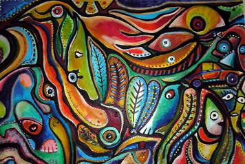 3430. サメに餌を与え、シャーマニズムの儀式に参加する夢