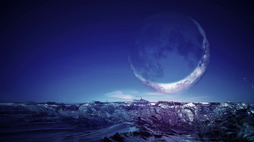 3394. 夜空に浮かぶ三日月を眺めながら