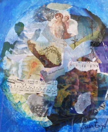 631. ニッサン・インゲル先生との共同絵画作品『平穏な悟り世界における死と再生』
