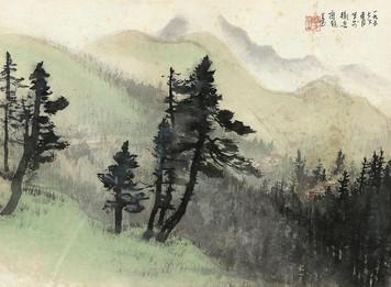 1861. 山間の景色に広がる仮想通貨の値動き