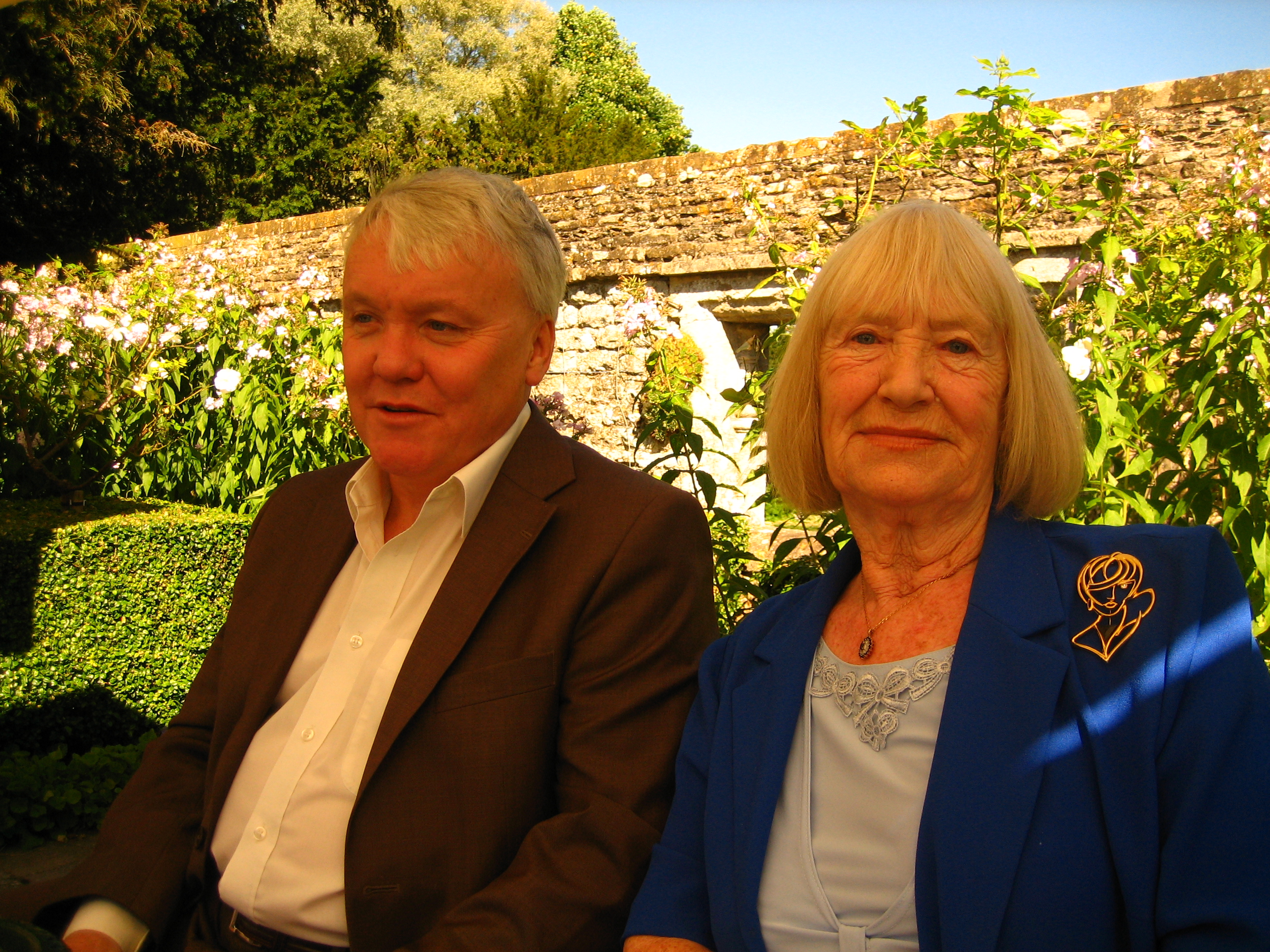 With 'Betty' my mum at Le Manoir