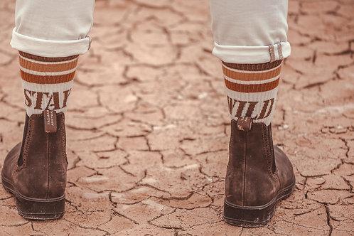 Wildust sisters Stay Wild socks
