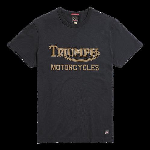 Triumph Barwell T-shirt Black/Gold