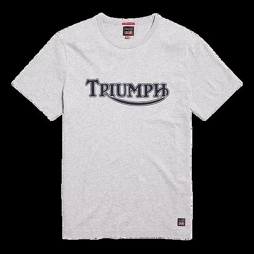 Triumph Fork Seal T-Shirt Silver Marl