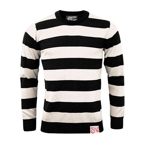 13 1/2 Black/White Stripe Outlaw Sweater