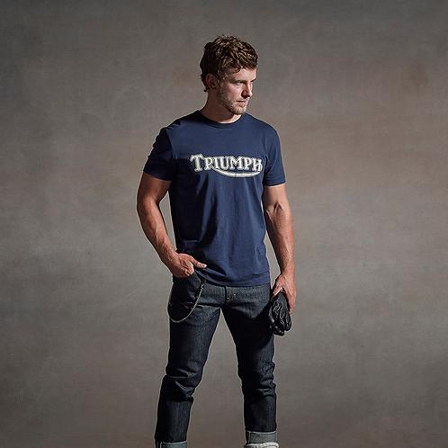 Triumph Fork Seal T-Shirt Navy