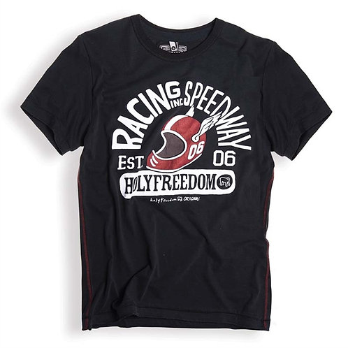 Holy Freedom Speedway Black T-shirt