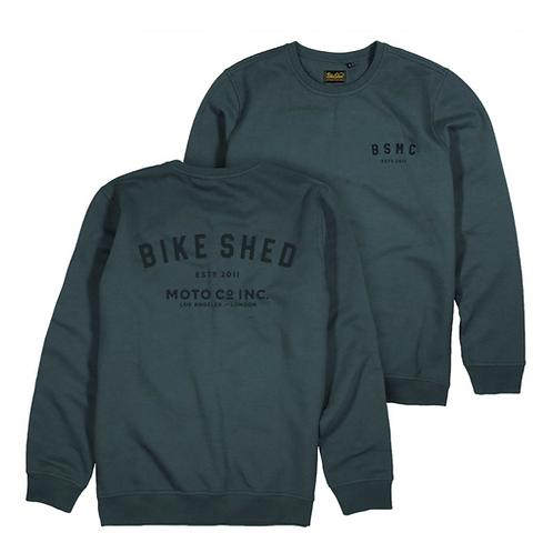 The Bike Shed -ESTD Sweater CHARCOAL-