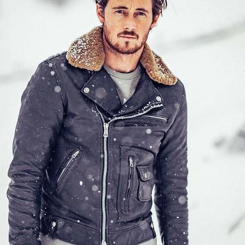 DEUS Nail Leather Jacket