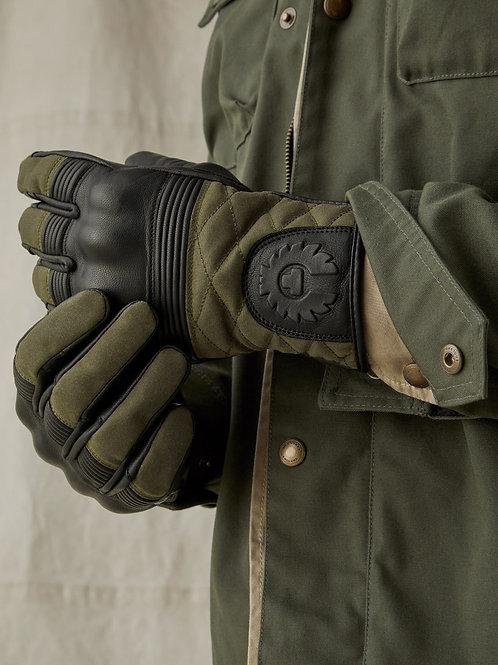 Belstaff Hampstead Gloves - Black/Green