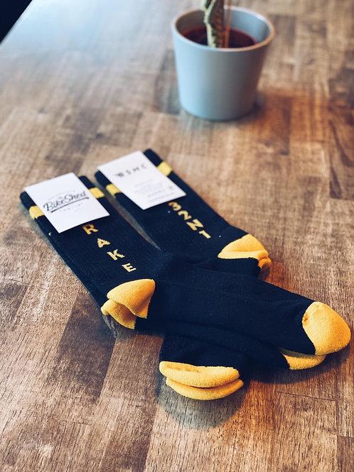 BSMC 'Brake' socks   Black & Yellow
