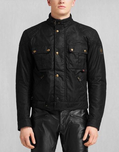 3a121bd32a Belstaff 'Brooklands' Waxed Cotton - Black