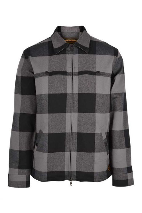 Wrenchmonkees Camp Over Shirt #158| Black-Grey