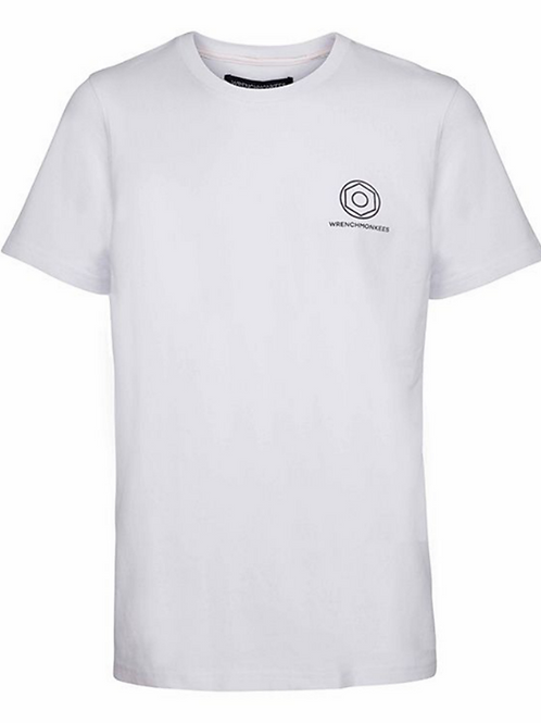 Wrenchmonkees Basic Tee Logo I White