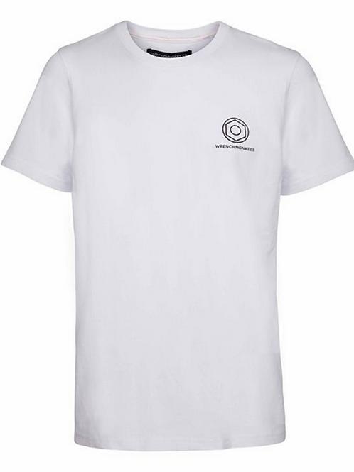 Wrenchmonkees Basic Tee Logo I White