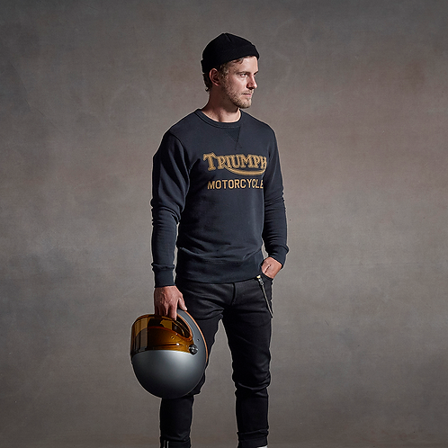 Triumph Radial Sweater - Black