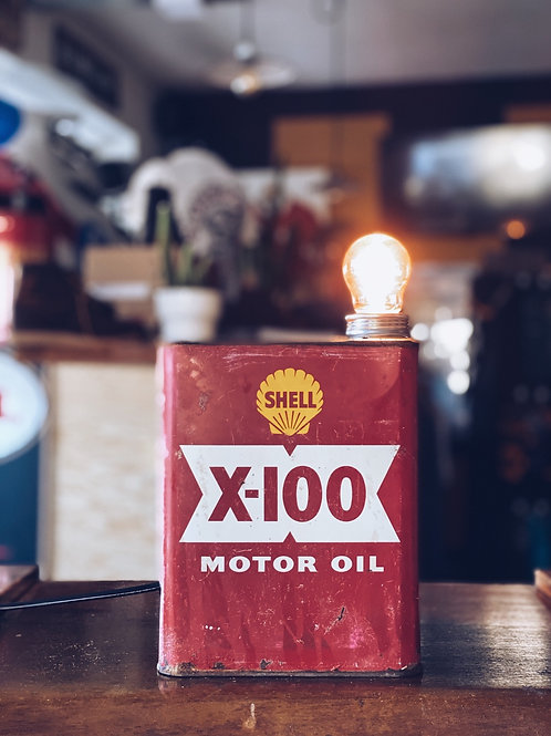 Shell 'X-100 Motor Oil' light - Red