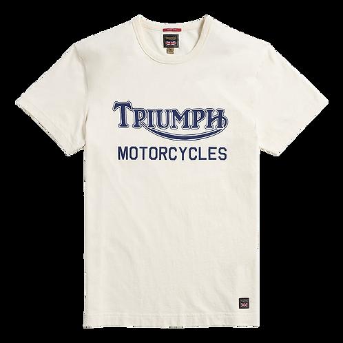 Triumph Barwell T-shirt Bone/Indigo