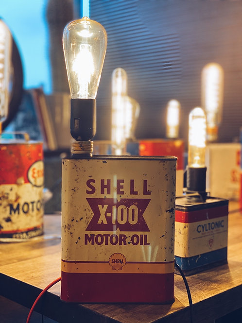Shell 'X-100 Motor Oil' light - White