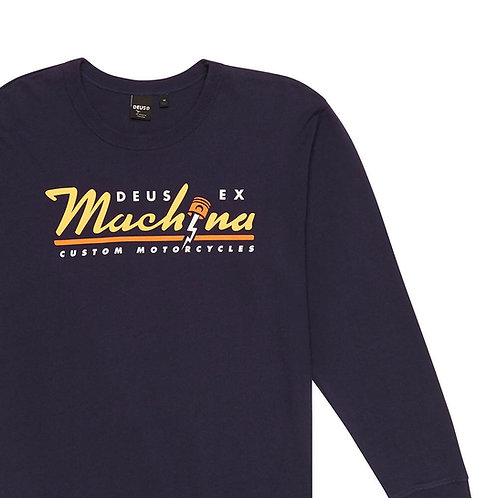 Deus Bolting Long Sleeve T-Shirt Navy