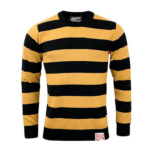 13 1/2 Black/Yellow Stripe Outlaw Sweater