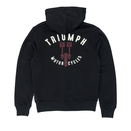 Triumph Piston Hoodie Black