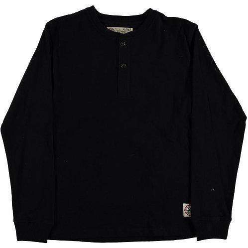 Eat Dust Henley T-Shirt   Black