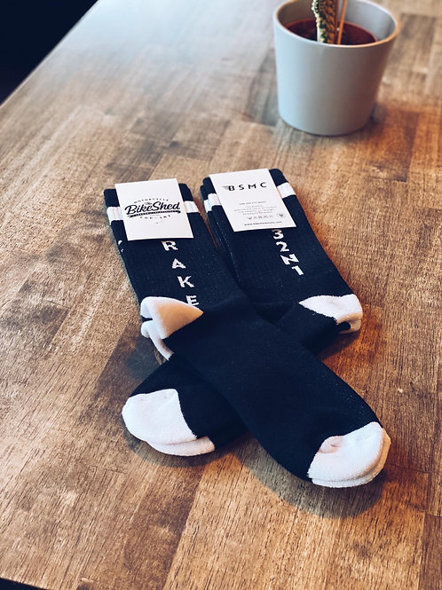 BSMC 'Brake' socks | Black & White
