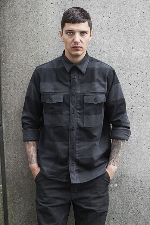 Wrenchmonkees Heavy Checked Shirt #145| Black-Grey