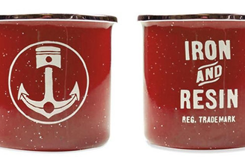 Iron & Resin 'Camp Mug' - Red