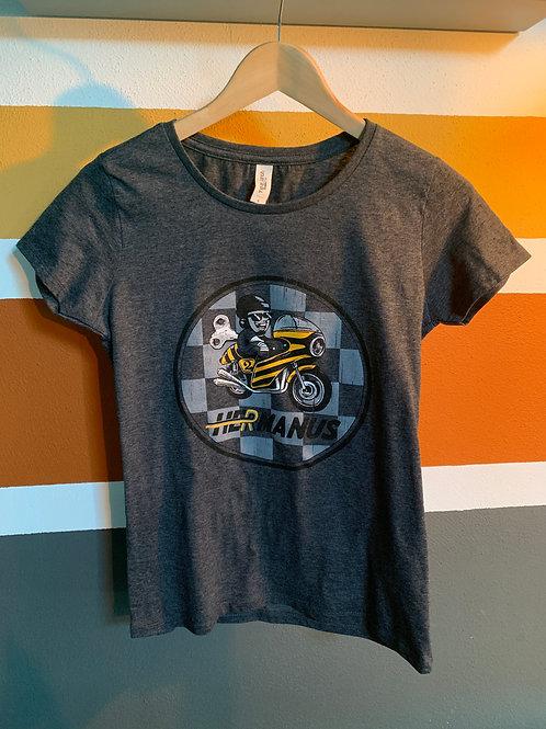 Hermanus Ladies T-Shirt 'Checkers' - Black Melange
