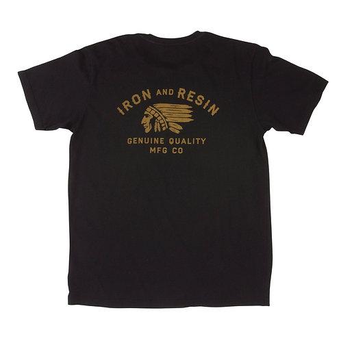 Iron & Resin Chief Pocket T-Shirt | Black