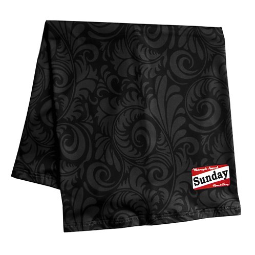 "Sunday Speedshop Scarf ""Background Black"""