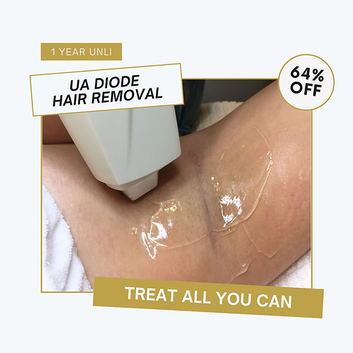 64% OFF for 1 Year Unli - UA Diode Hair Removal