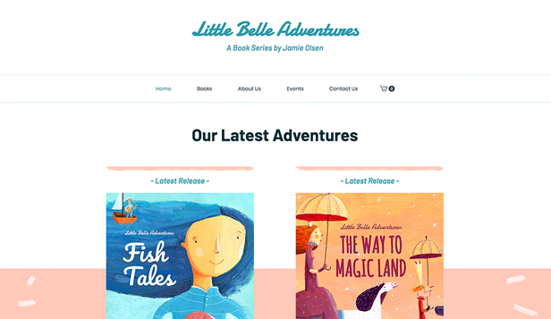 Bøker og forleggere website templates – Children's Book Store