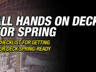 CHECKLIST: ALL HANDS ON DECK FOR SPRING