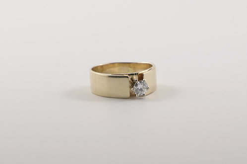 14K Yellow Gold Solitaire Ring .37 Carat