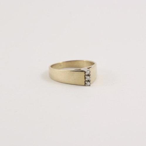 10K Gold Diamond Trinity Ring