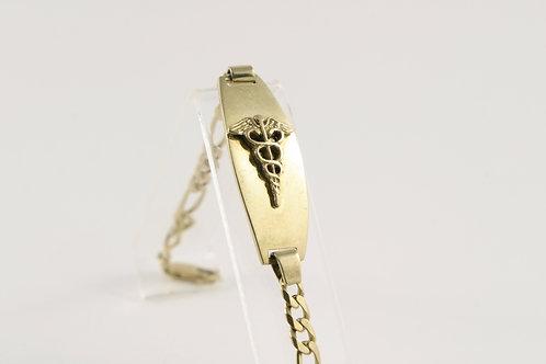 18K Gold Medical Alert Bracelet