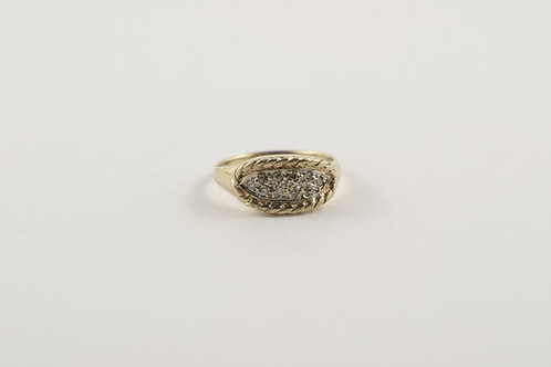 Vintage 14K Gold Multi Diamond Ring