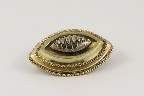 15K Antique Gold Mourning Brooch