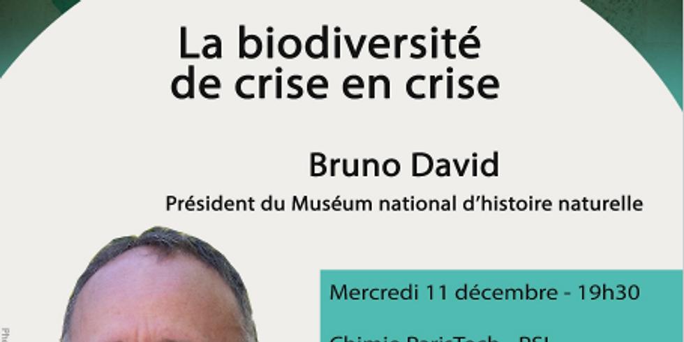 Conférence - La biodiversité de crise en crise