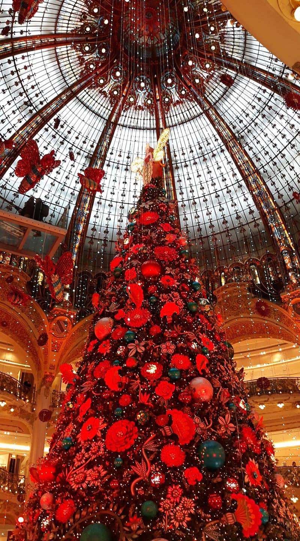 Arbol de navidad en las galerias Lafayette