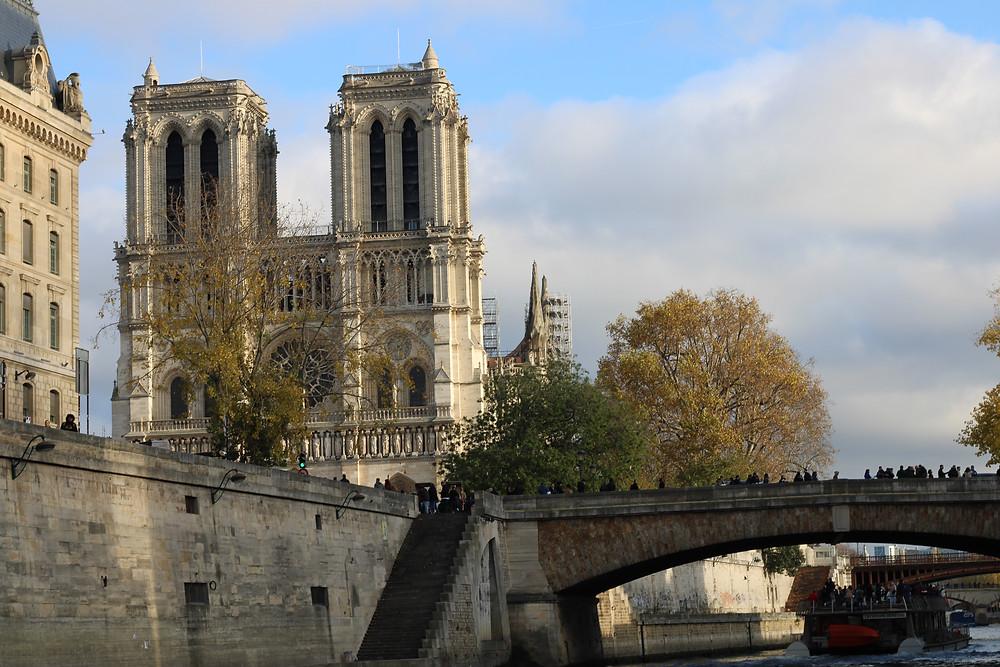 Catedral de Notre Dame vista desde el río sena