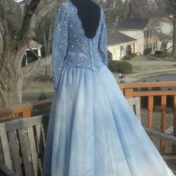 blu clouds WedGown S