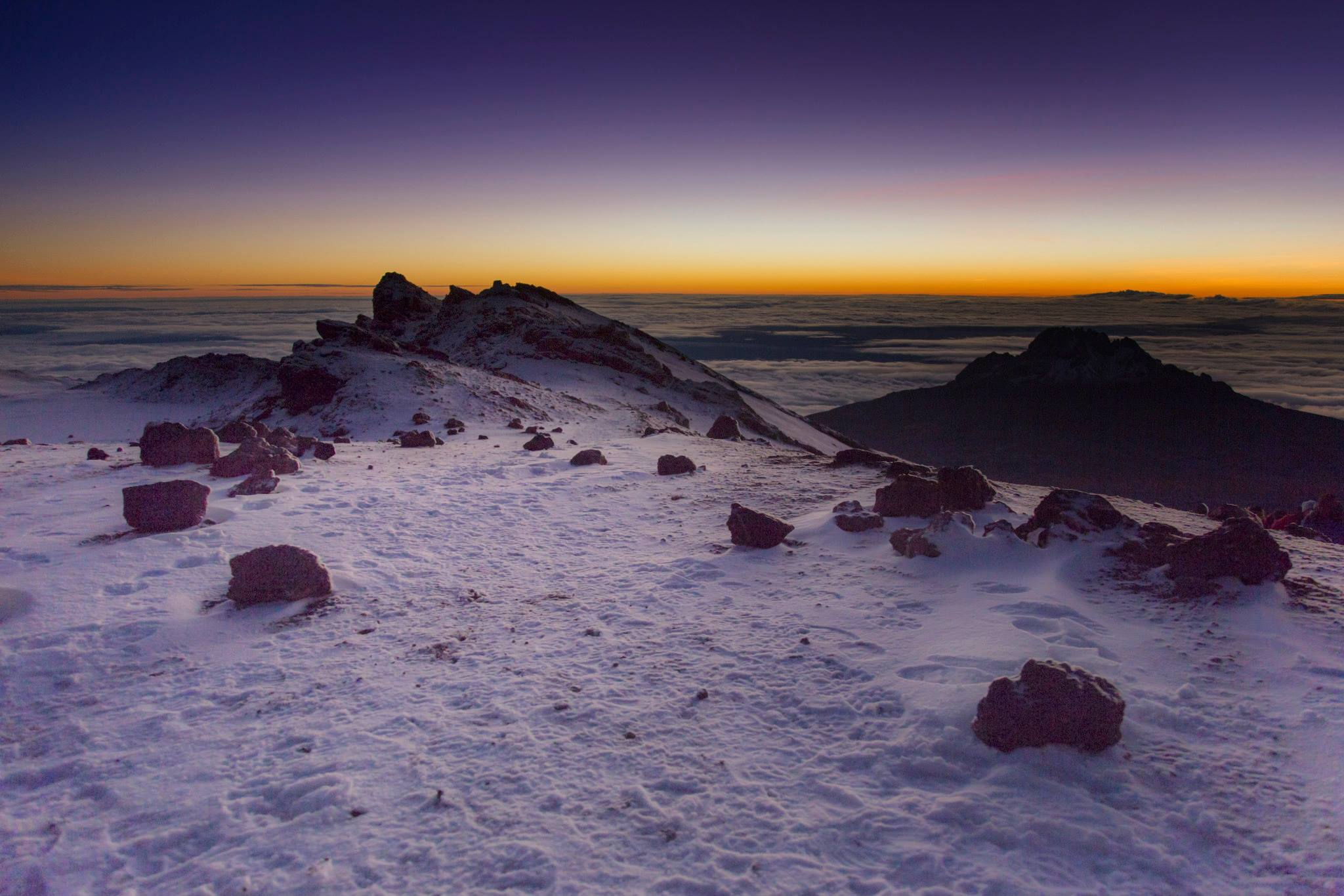 Sunrise over Mawenzi Peak