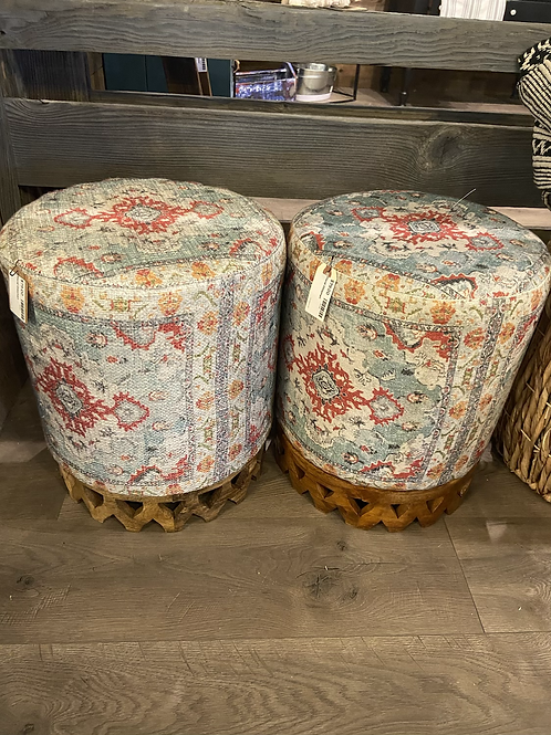 Beautiful spring footstool