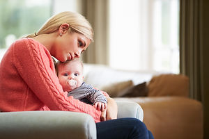 Mother Suffering From Post Natal Depress