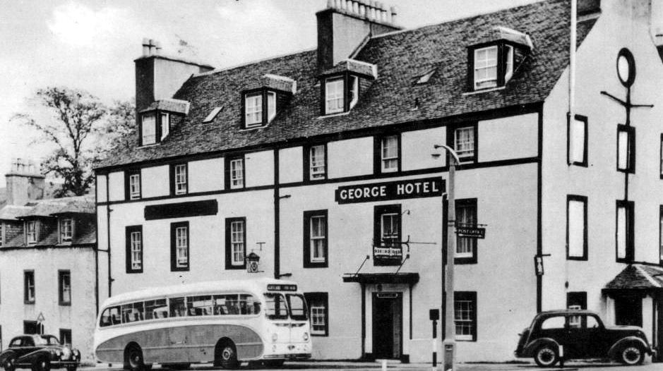 Old Photograph George Hotel Inveraray Sc