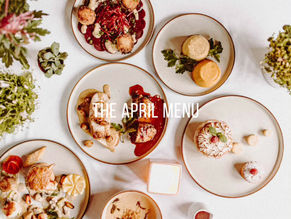 Introducing our April menu! Four brand new courses with bread and wine, for you to enjoy at home...